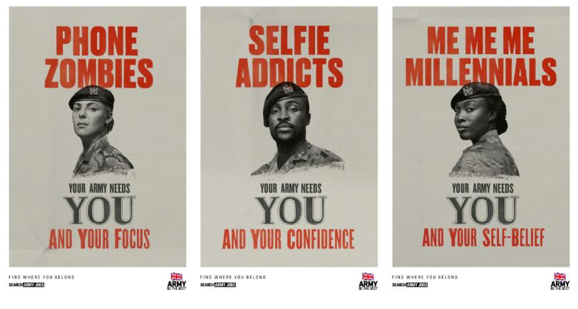 british army recruitment advertisements
