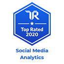 trust radius top rated 2020 badge for social media analytics