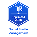 trust radius top rated 2020 badge for social media management