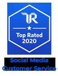 TrustRadius Top Rated 2020 social media customer service badge