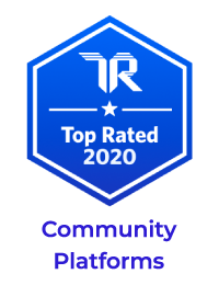 trust radius top rated 2020 badge for community platforms