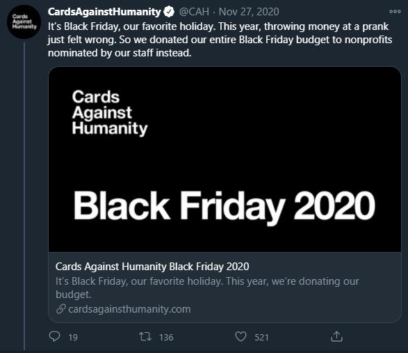 CAH twitter promo