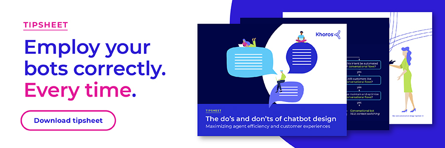 The do's and don'ts of chatbot design