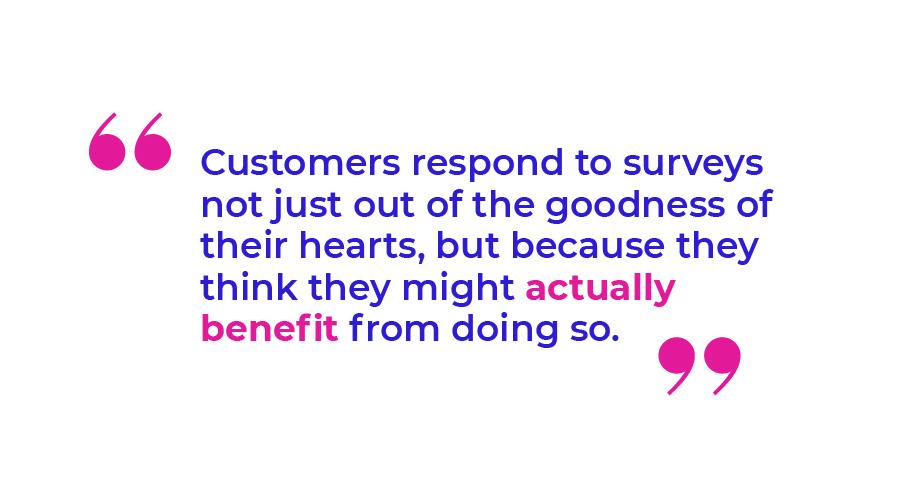 Customers respond to surveys