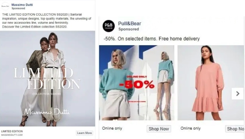 Facebook Clothing Ads Examples