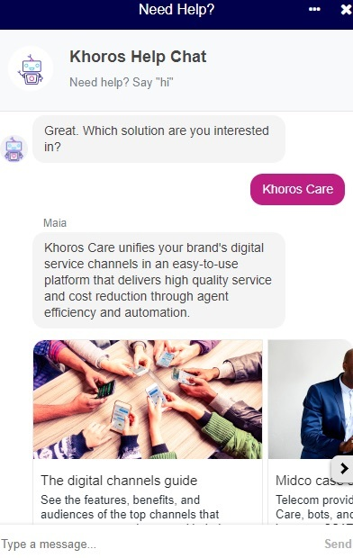 Khoros Help Chat