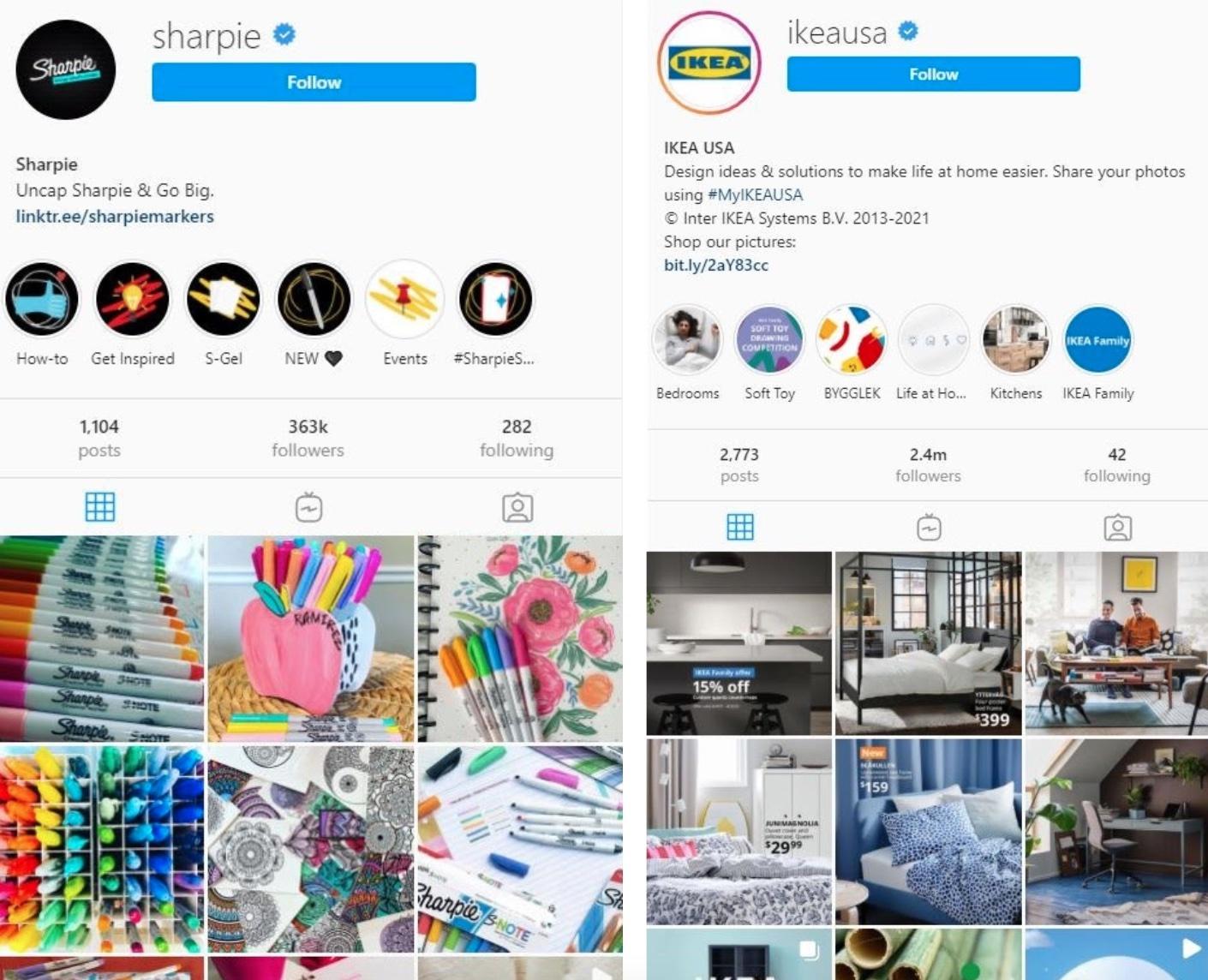 Sharpie & Ikea USA Instagram