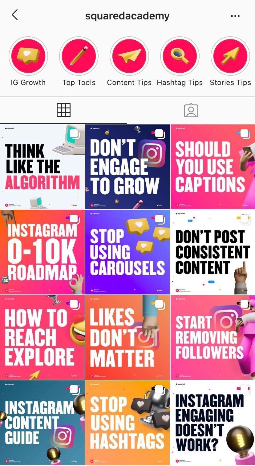 squareacademy instagram tips