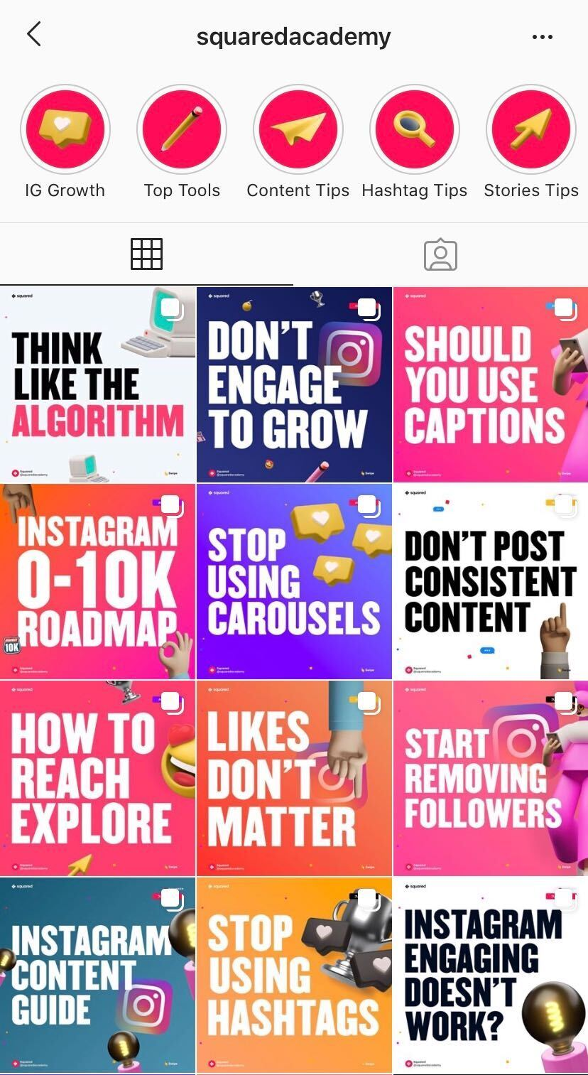squareacademy instagram tips