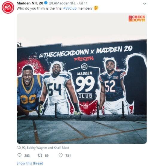 NFL 99 club mural