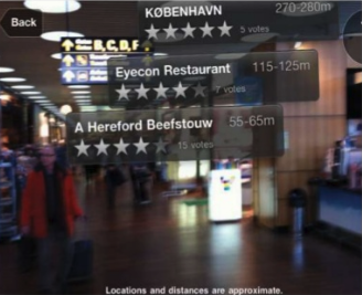 screenshot from copenhagen airport app