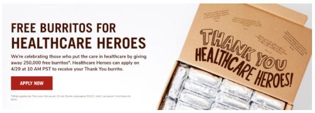 Chipotle free burrito giveaway