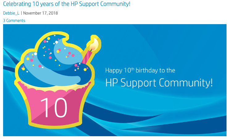screenshot from hp support community
