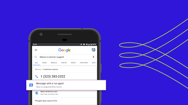 Googles Business Messenger one-pager header image