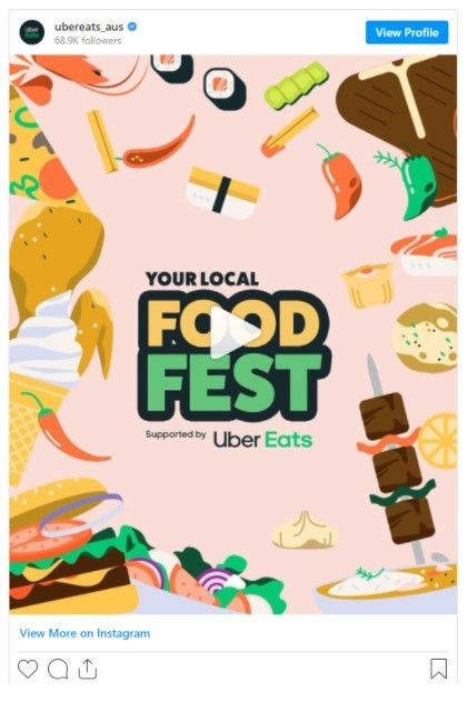 Uber Eats Food Fest social media post